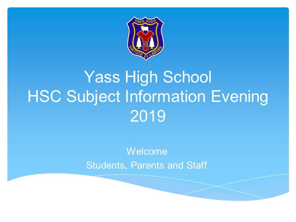 HSC Subject Information Evening